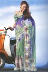 Latest Faux Georgette Digital Printed Saree