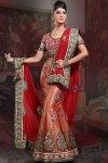 Red Bridal Lehenga Choli Collection 2010