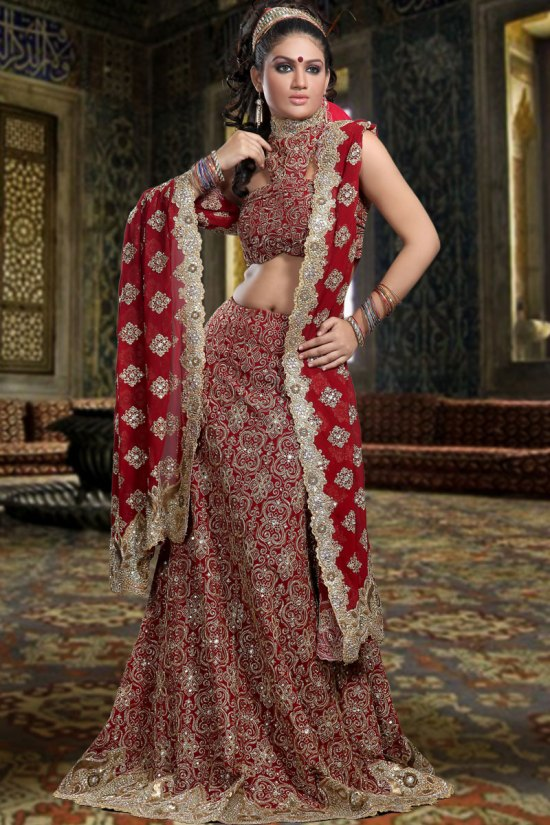 Heavily Embroidered Bridal Lehenga Choli Collection