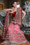 Latest Mermaid Style Pink Lehenga Choli 2010