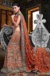 Vermilion Orange Bridal Lehenga Choli 2010