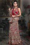 Pure Georgette Wedding Lehenga Choli in Maroon Color