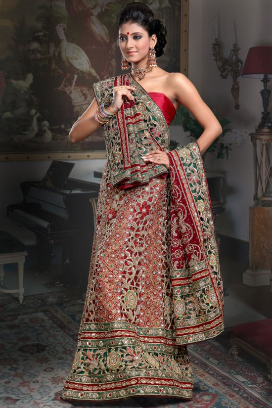 Pure Crepe Ghagra Choli Collection 2010