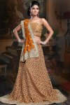 Georgette Ornage Heavily Embroidered Lehenga Choli Collection