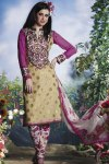Purple Churidar Salwar Kameez 2010