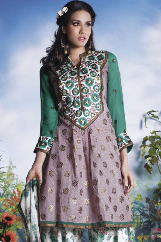 Benarasi and Cotton Salwar Kameez 2010