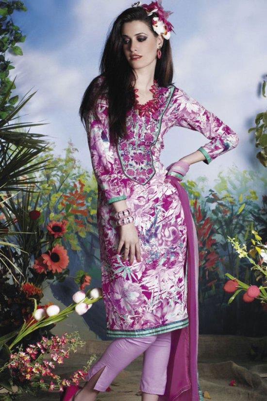 Latest Violet Shalwar Kameez 2010