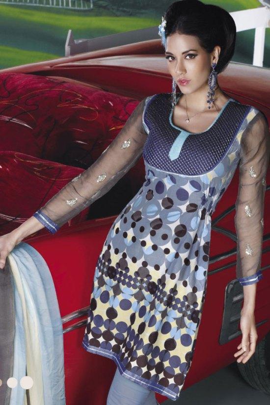 Trendy Cotton Churidar Salwar Kameez