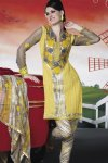 Newly Arrived Shalwar Kameez in Yellow Color