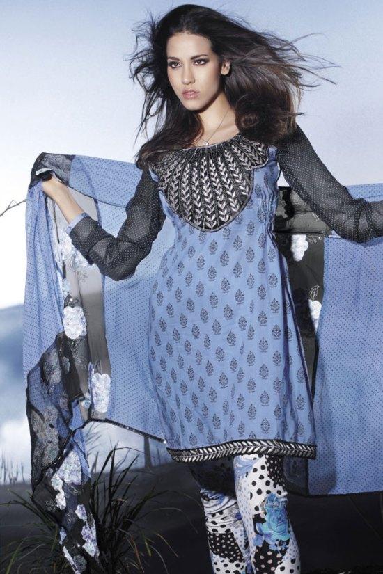 Freshly Arrived Blue and Black Salwar Kameez 2010