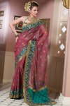 Latest Deep Pink Saree Designs