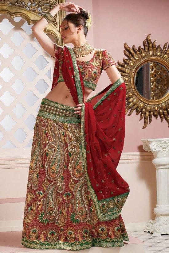 Latest Lehenga Style Saree Designs