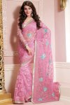 Latest Embroidered Part Saree Designs