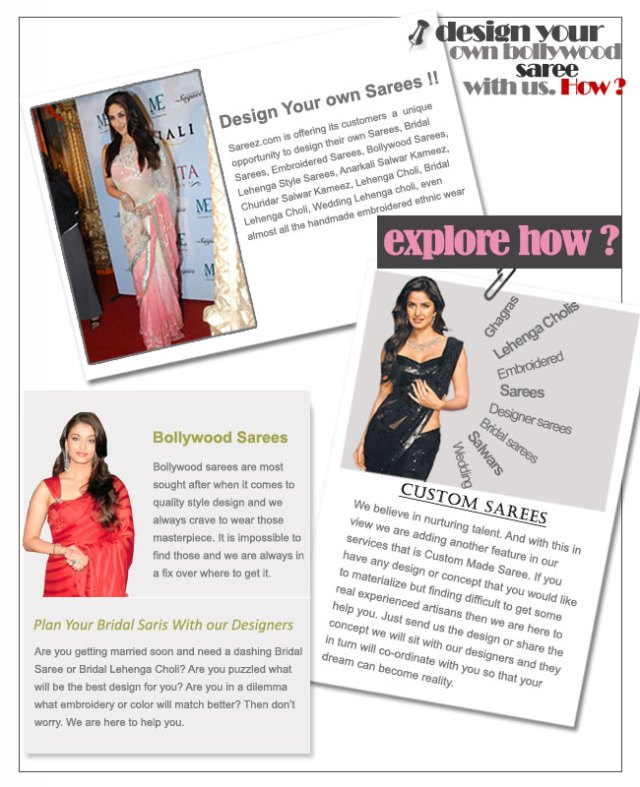 Design Your Bollywood Sarees