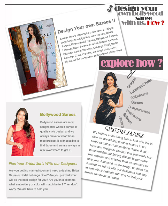 Design Your Bollywood Sarees