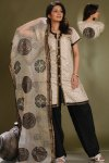 White and Black Cotton Salwar Suit Designs 2010