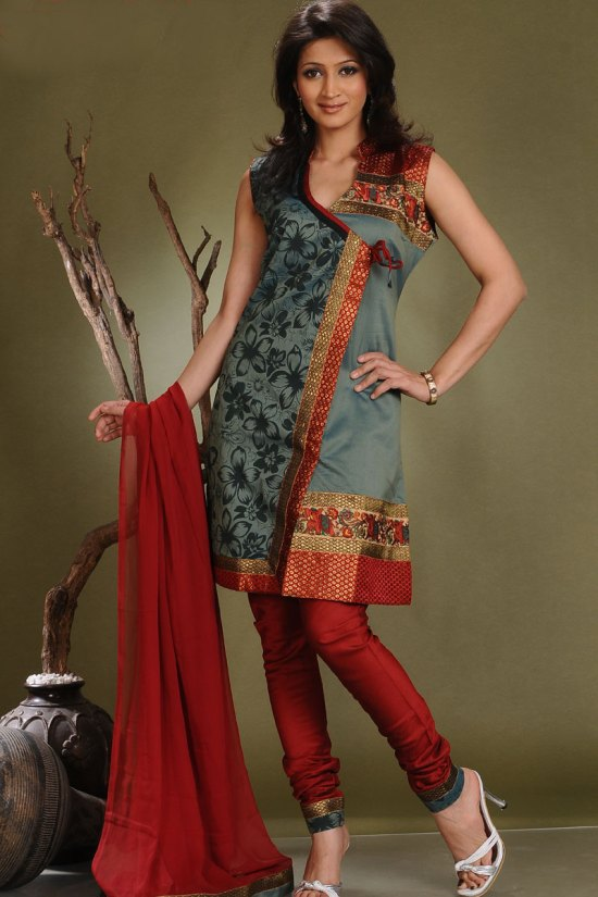 Cotton Silk Churidar Salwar Kameez Designs 2010