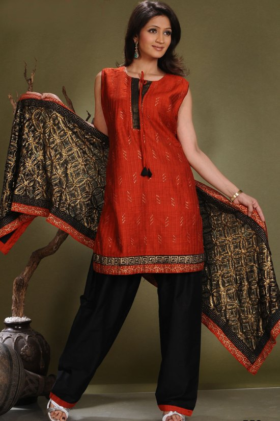 Latest Festival Shalwar kameez in Cotton Silk Fabric