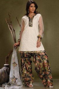 White and Black Ready Made Shalwar Suit Designs 2010