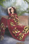 Exclusive Designer Saree in Maroon Color with Light Embroidery Work