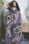 Party and Casual Wear Saree in Faux Georgette Fabric