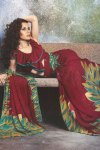 Latest Red Designer Printed in Faux Georgette