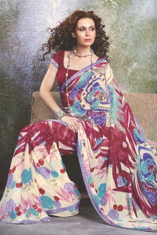Stunning Designer Printed Saree 2010