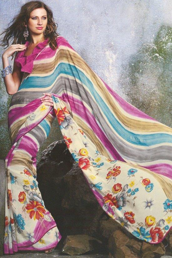 Printed Casual Wear Saree 2010