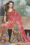 Cerise Pink Latest Designer Saree for Party Wear