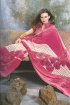 Dark Pink Designer Sari for Festival Wear