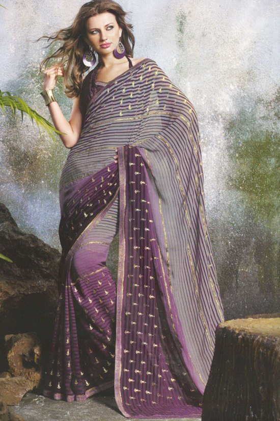 Printed Saree in Georgette fabric