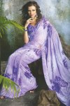 Stunning Violet Faux Georgette Printed Saree 2010