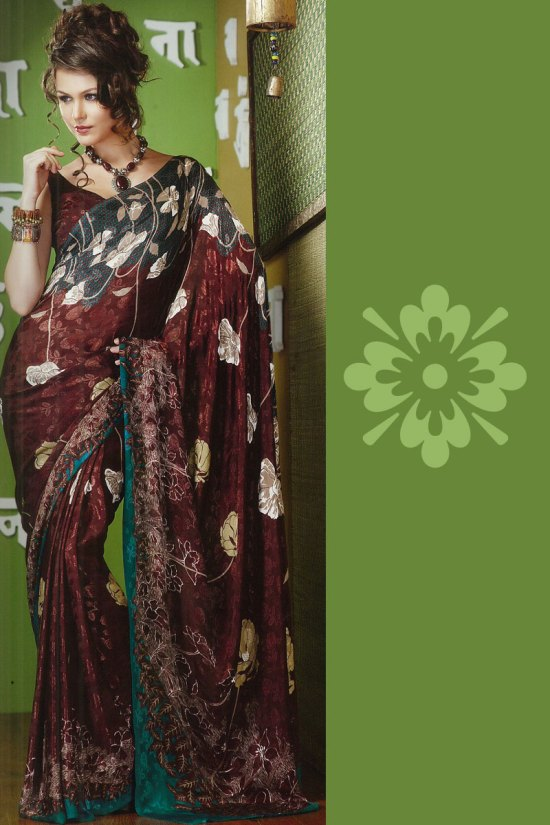 Latest Printed Saree in Faux Georgette Fabric