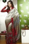 Newly Arrived Designer Printed Saree with Full Sleeves Blouse