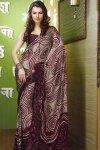 Violet Color Printed Sari for Festival Wear