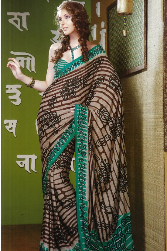 Casual Printed Saree in Faux Georgette