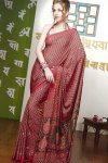 Pink Printed Saree in Faux Georgette Fabric