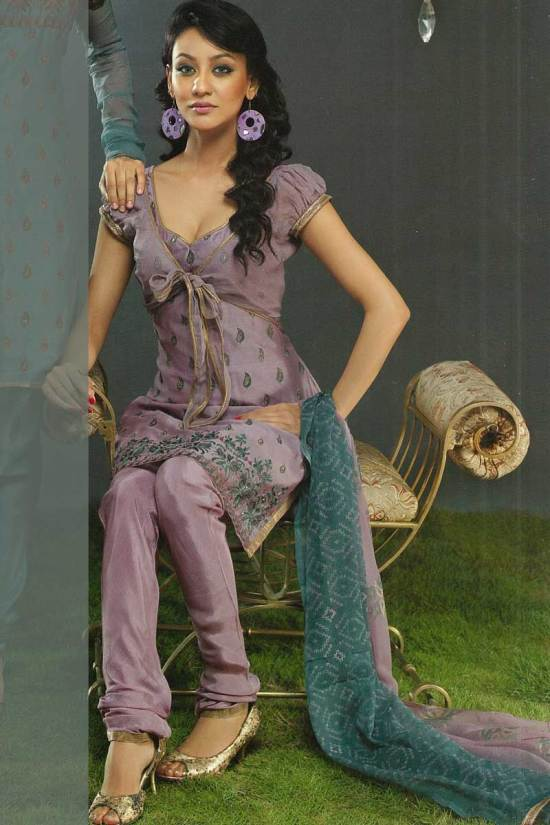 Silk Party Wear Churidar Kameez in Affordable Price Range