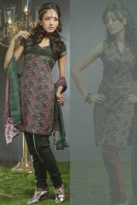 Cotton Indian Churidar Kameez in Sea Green Color