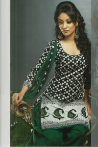 Full Sleeve Churidar kameez suit with Matching Dupatta