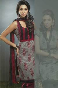Sleeveless Maroon and Brown Chudidar kameez 2010