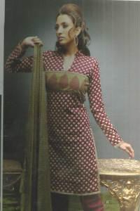 Unstitched Festival Wear Churidar Kameez 2010