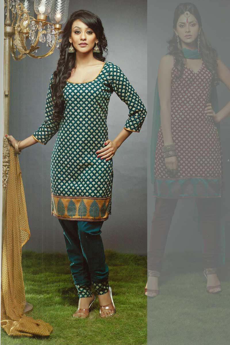 Unstitched Chudidar Kameez for Party and Festival Wear 2010