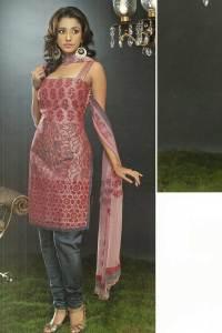 Pink Cotton Chudidar kameez with Matching Dupatta