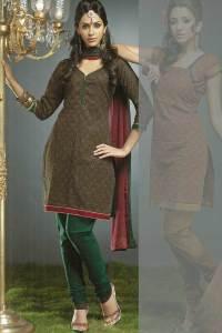 V Neck Churidar kameez for Party and Festival Wear
