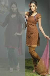 Square Neck Latest Churidar Kameez Can Be customized