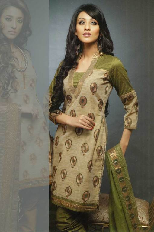 Anarkali Churidar Kameez in Full Sleeves can Be customizable
