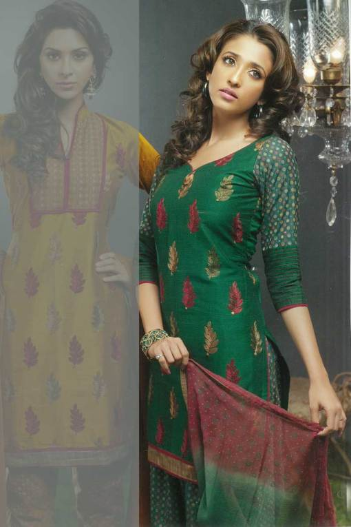 Gorgeous Green Churidar Kameez 2010