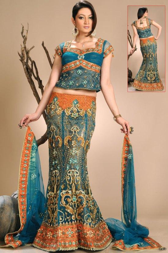 Latest Embroidered Wedding Lehenga Choli 2010