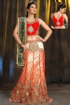 Latest Heavily Embroidered Wedding Lehenga Choli 2010